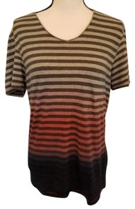 f8d1ab9d68e96 Guess Ombre Striped Urban And Casual T Shirt Gray