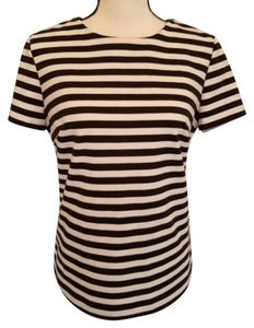 MICHAEL Michael Kors Striped Casual Urban Street And Top Black, White