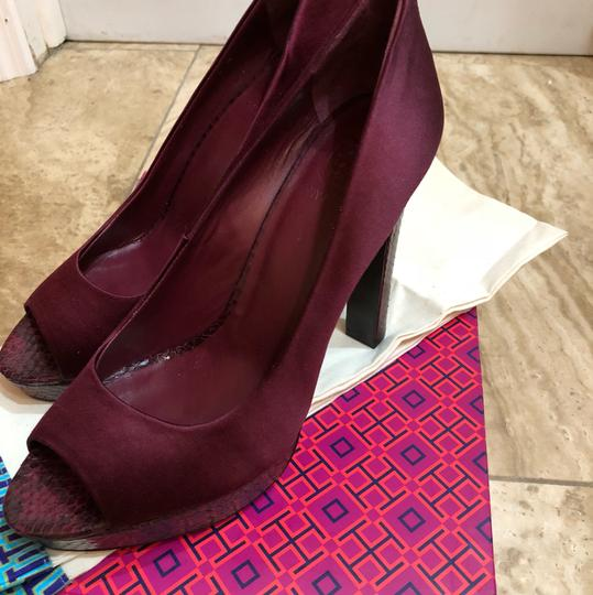 Tory Burch Burgundy Platforms Image 1