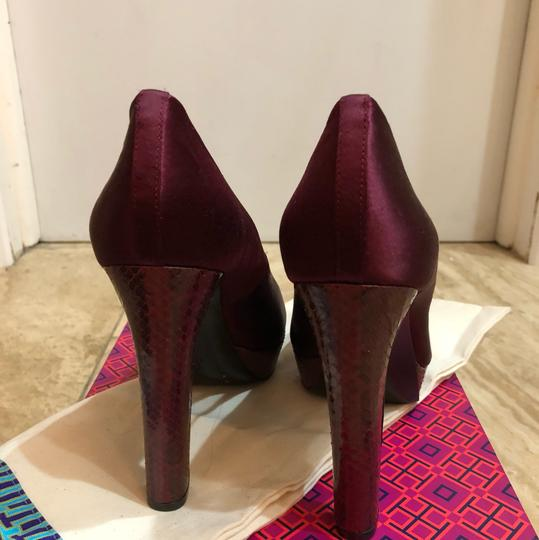 Tory Burch Burgundy Platforms Image 3