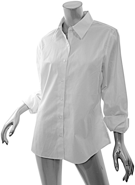 Item - White Cotton Classic Shirt Button-down Top Size 10 (M)