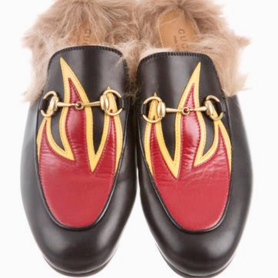 0fa5db21b4e Gucci Princetown Flame Fur Slipper Sold Out Anywhere Flats Size EU ...