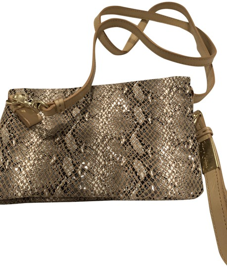 Preload https://item2.tradesy.com/images/foley-corinna-cache-day-beige-and-tan-snakeskin-cross-body-bag-23248321-0-3.jpg?width=440&height=440