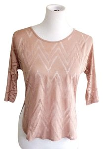 H.I.P. Soft Comfortable Spring Bright Fall Top pink and tan