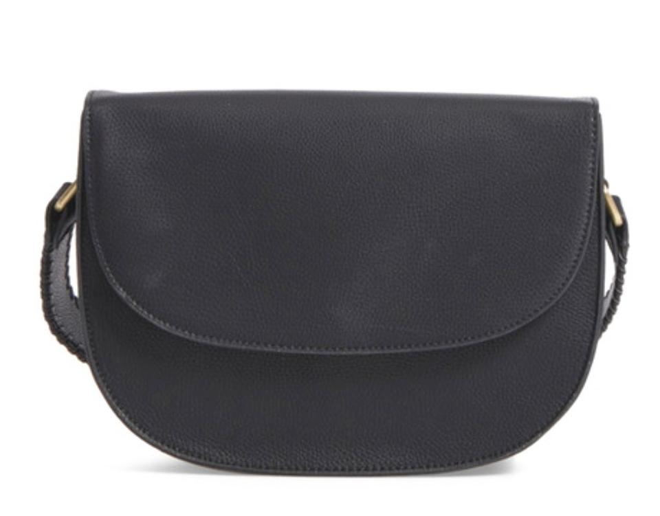 Sole Society Black Faux Leather Messenger
