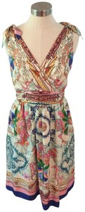 Collette Dinnigan short dress Multi colored-blues, greens, peach, apricot on Tradesy