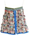 Chanel Designer Iconic Tweed Mini Skirt Multicolor
