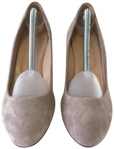 J.Crew Suede Almond Toe Taupe Wedges
