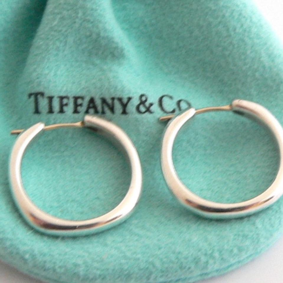 f969d34af4e2f Tiffany & Co. Sterling Silver Square Hoop Cushion Earrings