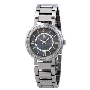 Lucien Piccard Black Mother of Pearl Roman Numerals Stainless Steel Ladies Watch