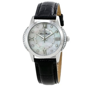 Lucien Piccard Roman Numerals Mother of Pearl Dial Leather Strap Ladies Watch