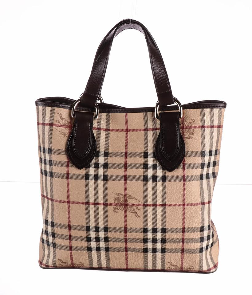 3c508b084 Burberry Bag Like New Haymarket Check Coated Chester Beige Canvas ...