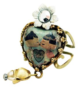 Michal Negrin Michal negrin japanese doll kiss heart crystal flower ring