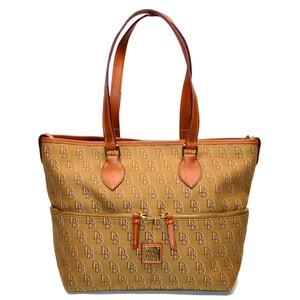 Dooney & Bourke Signature Shadow Convertible Tote in Brown
