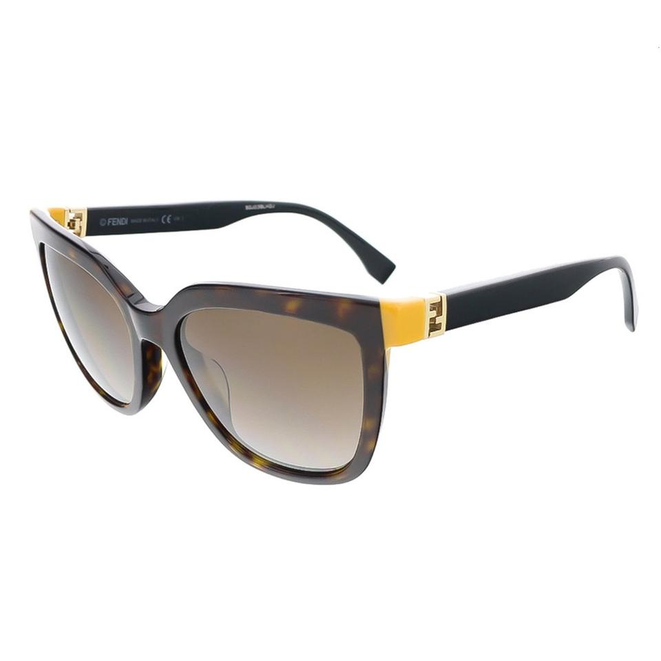 71eabbda4f12 Fendi Dark Havana Black Havana Black Square Sunglasses - Tradesy