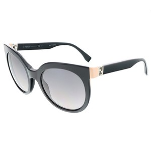 Fendi Fendi Shiny Black Round sunglasses