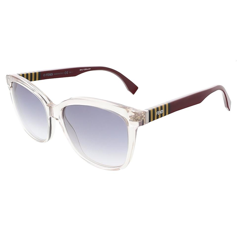 ebd516eae0817 Fendi Grey Penguin Burgundy Grey Penguin Butterfly Sunglasses - Tradesy