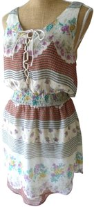 Free People short dress White/floral on Tradesy