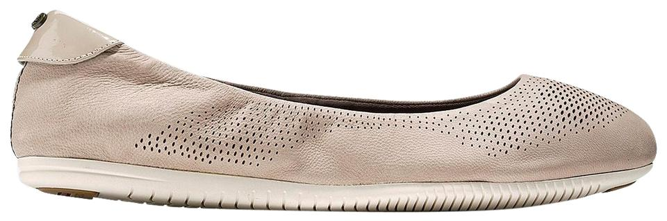 6c8cc4f8d3a Cole Haan Simply Taupe Nubuck Ivory Studiogrand Packable Ballet Flats. Size   US 6.5 Regular (M ...