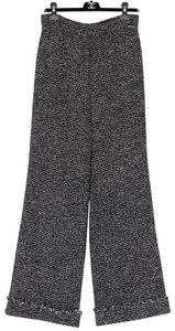 Chanel Wide Leg Pants Black, Ecru