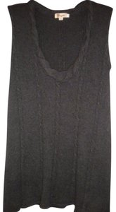 Aryeh Sleeveless Charcoal Tunic Sweater