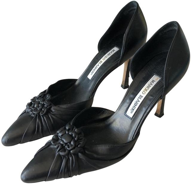 Manolo Blahnik Black Pumps Size EU 36 (Approx. US 6) Regular (M, B) Manolo Blahnik Black Pumps Size EU 36 (Approx. US 6) Regular (M, B) Image 1