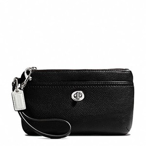 Coach F49472 49472 Medium Leather Wristlet in Black