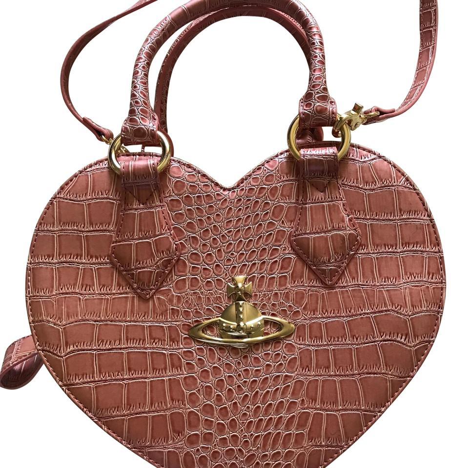 6f04aaef4de Vivienne Westwood Chancery Heart Pink Leather Cross Body Bag - Tradesy