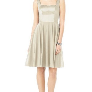 Dessy Gold Classy Cocktail Soft Color Casual Bridesmaid/Mob Dress Size 8 (M)