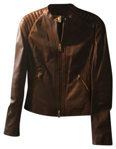 Boss by Hugo Boss dark taupe Leather Jacket