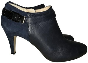 Vince Camuto Leather Suede Womens Navy Boots
