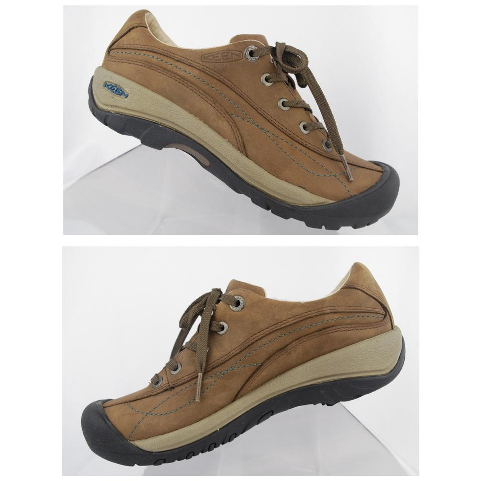 515170263c Keen Brown Toyah Women's Leather Lace Up Hiking Sneakers 53001 ...