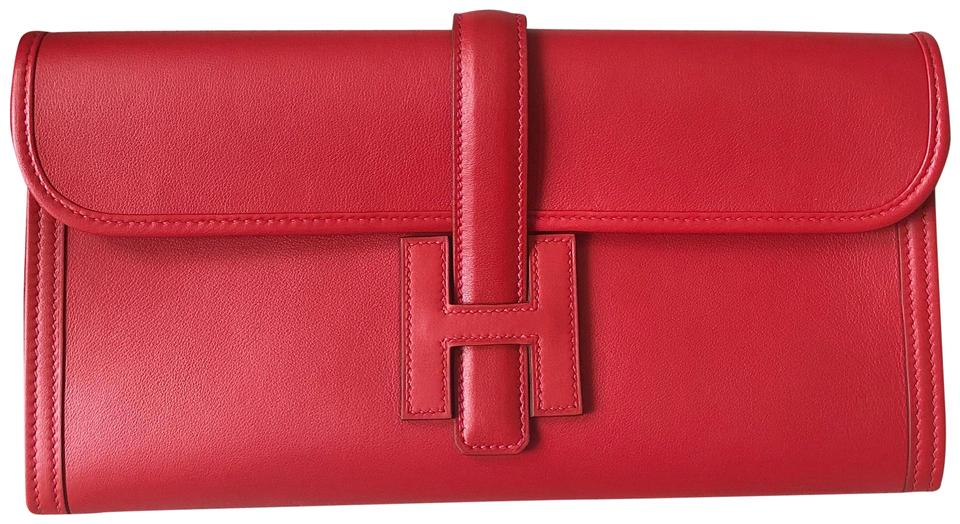 Hermès Pink Red Swift Leather Clutch Handbag Wallet - Tradesy 4ff092d23226