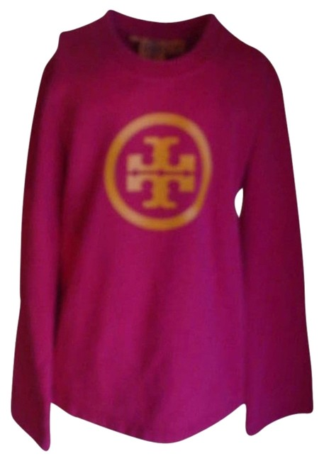 Preload https://img-static.tradesy.com/item/2325109/tory-burch-pink-and-orange-with-symbol-sweaterpullover-size-6-s-0-0-650-650.jpg