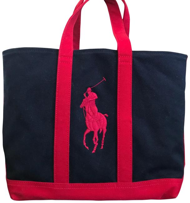 Item - Bag Big Pony Classic Navy and Red Canvas Tote