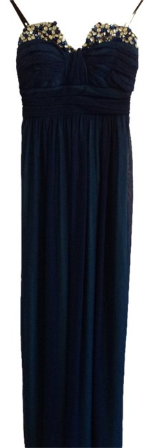 Preload https://item1.tradesy.com/images/blue-beaded-fashion-gown-gown-flowy-long-formal-dress-size-2-xs-2325115-0-0.jpg?width=400&height=650