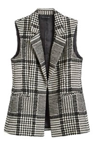 Theory Houndstooth Vest
