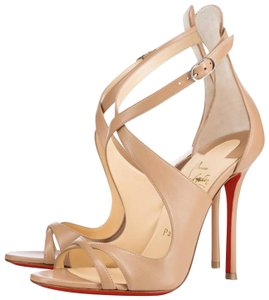 Christian Louboutin Pigalle Follies Sequin Color Changing Silver Nude Sandals