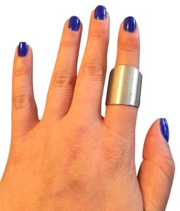 Silver Copper Statement Ring