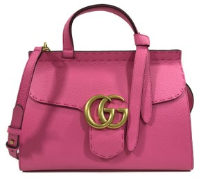 Gucci Purse Top Handle Tote Marmont 421890 Satchel in Pink