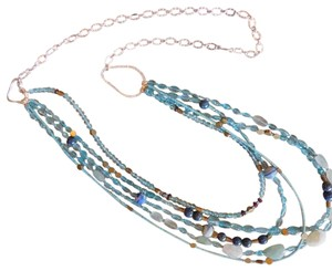 Sundance Multilayered semi precious gem necklace