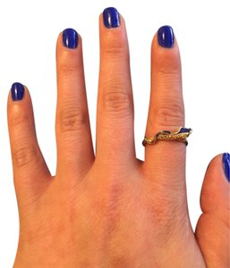 18K Vintage Snake Ring in Blue Accent ( PRICE REDUCED )