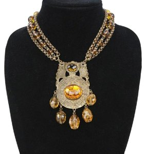 Stephen Dweck Citrine and Amber Necklace
