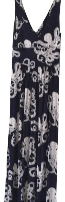 Item - Navy and White Summer Collection Long Casual Maxi Dress Size 4 (S)