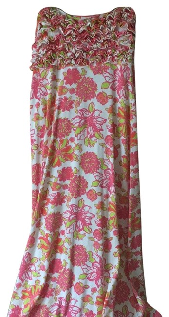 Item - Pink Green and White Summer Collection Long Casual Maxi Dress Size 8 (M)