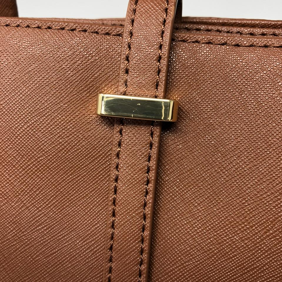 Leila Tote Leather Vince Small Camuto In Cognac Brown Fx56aq