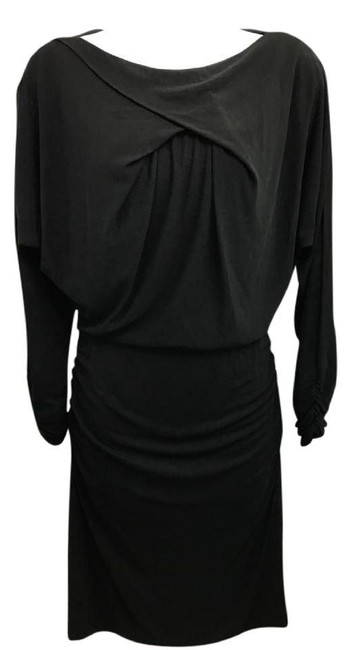 Item - Black Exposed Zip Closure Short Night Out Dress Size 4 (S)