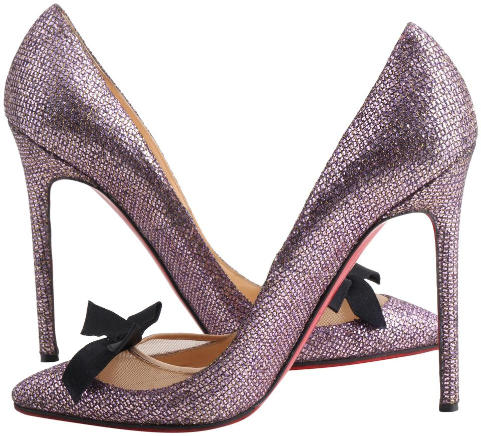 91233ec3678a Christian Louboutin Multicolor Love Me Pivoine Glitter Pumps Size US ...