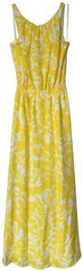White/yellow Maxi Dress by Ann Taylor