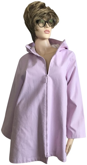 Item - Pink Hooded Zipper Front Coat Size 6 (S)